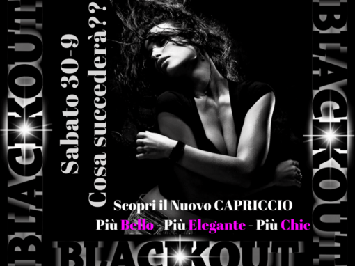 SPECIAL NIGHT Black Out Sabato 30-9